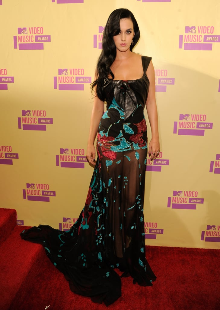Katy Perry in Elie Saab at the 2012 MTV VMAs.