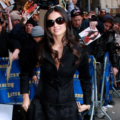 Demi Moore Outside The Late Show