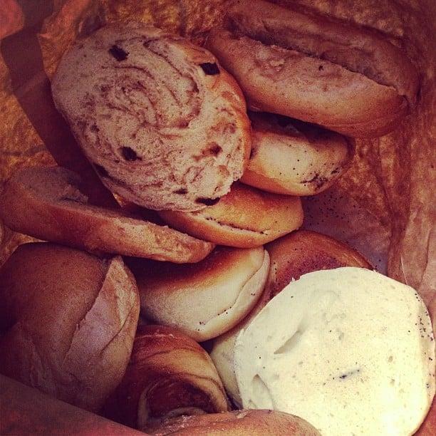 Post-NYFW fare? Bagels, bagels, bagels.