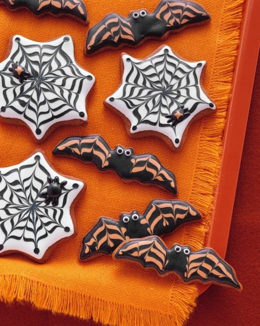 Bat and Cobweb Cookies