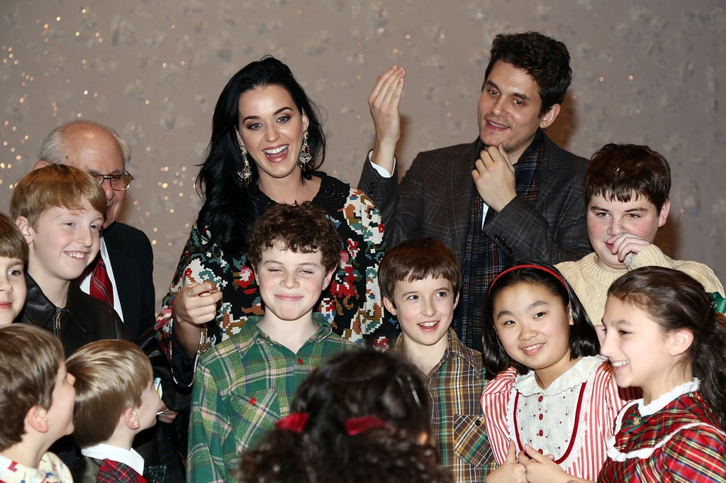 Katy Perry and John Mayer joked around with the child stars in the musical.