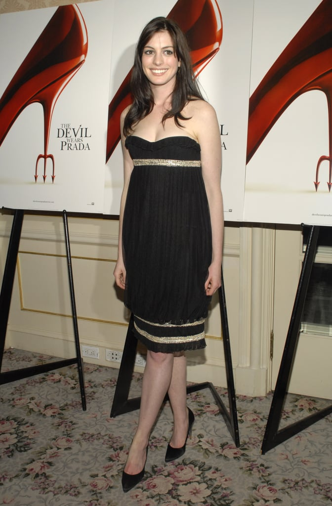 In May 2006, Anne Hathaway's NYC The Devil Wears Prada screening featured an auction that benefited the Breast Cancer Research Foundation.