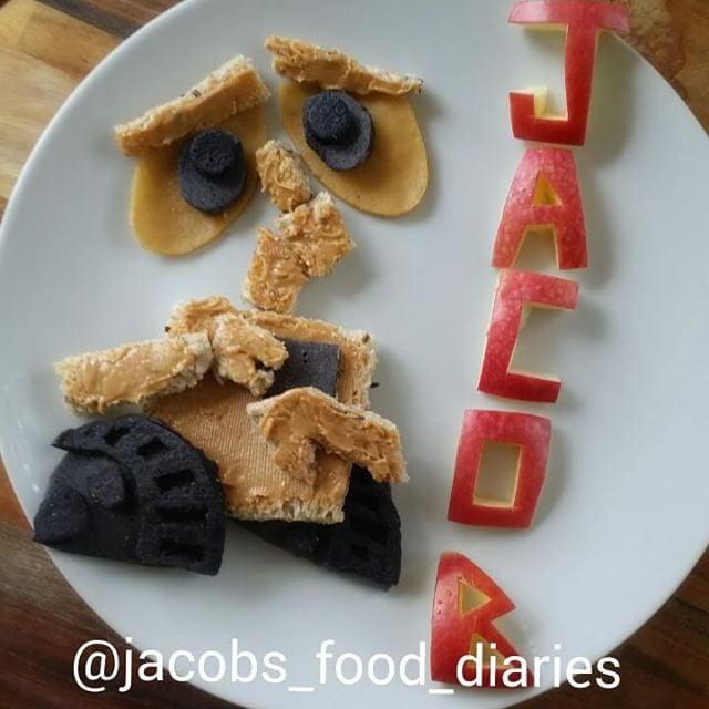 WALL-E peanut butter on toast.