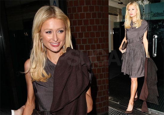 Photos of Paris Hilton, Nicky Hilton, David Katzenberg at Mr. Chow's in LA; Interview with Ryan Seacrest About Taking a Break