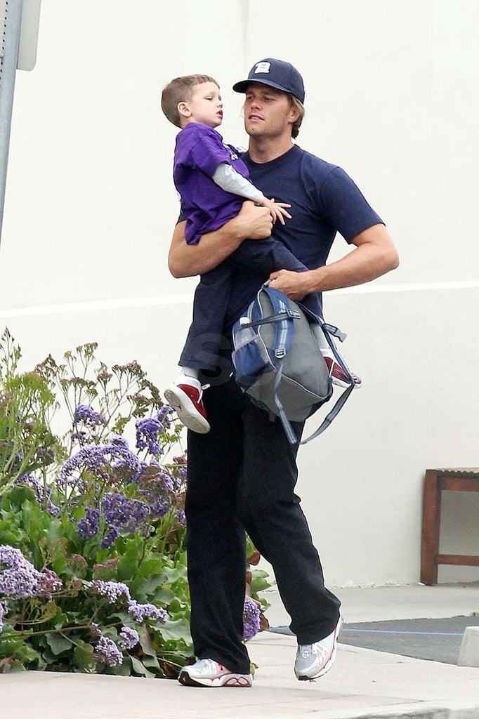 Tom Brady carried his cute son Jack during a day out in Malibu.