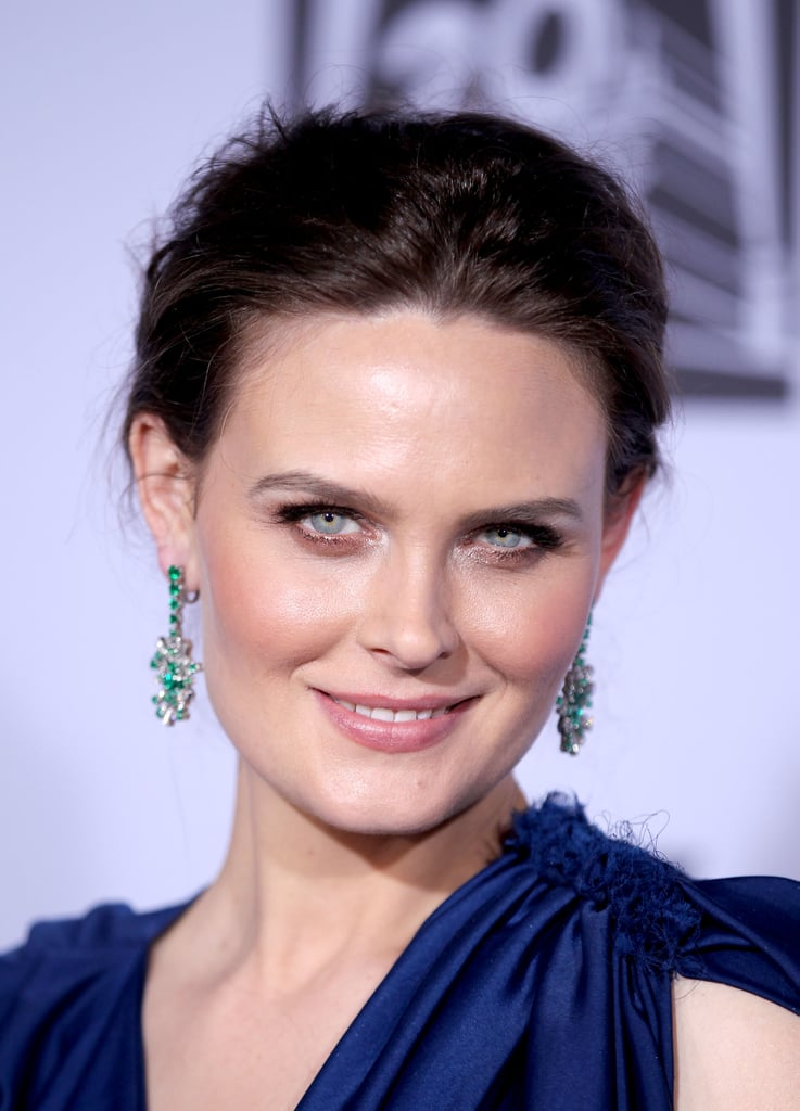 Emily Deschanel attended the Fox party.