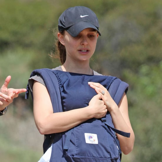 Natalie Portman Hiking With Baby Aleph Pictures