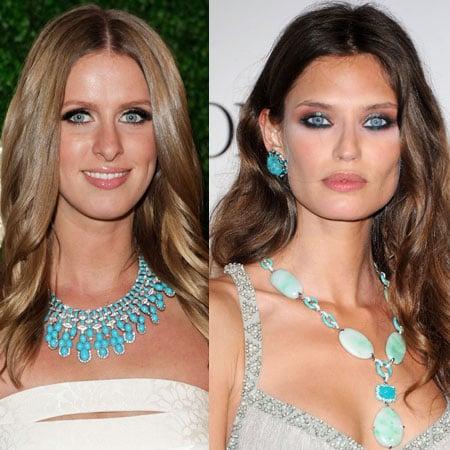 Bianca Bati and Nicky Hilton Wear Turquoise Gems