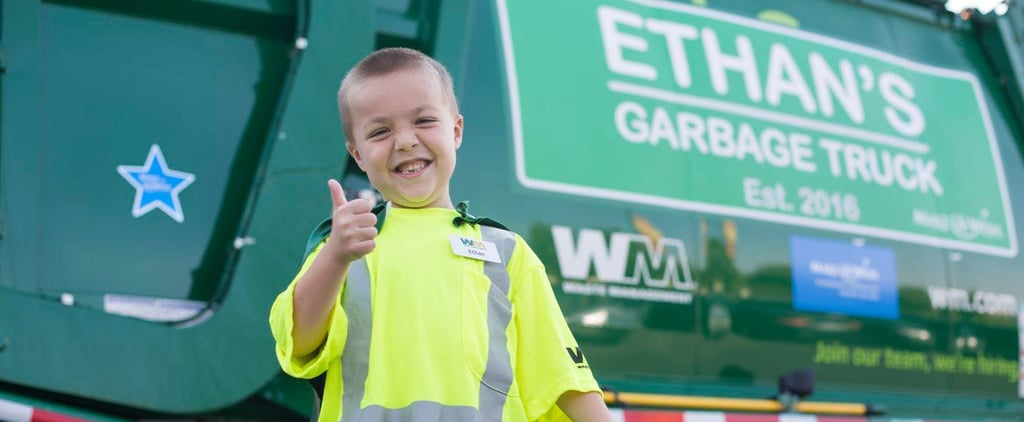 This Sick Little Boy's 1 Wish Came True — When He Got to Be a Garbage Man For the Day