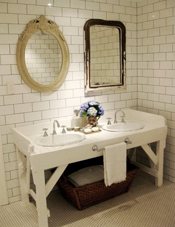 Cool Idea: A Workbench Bath Console