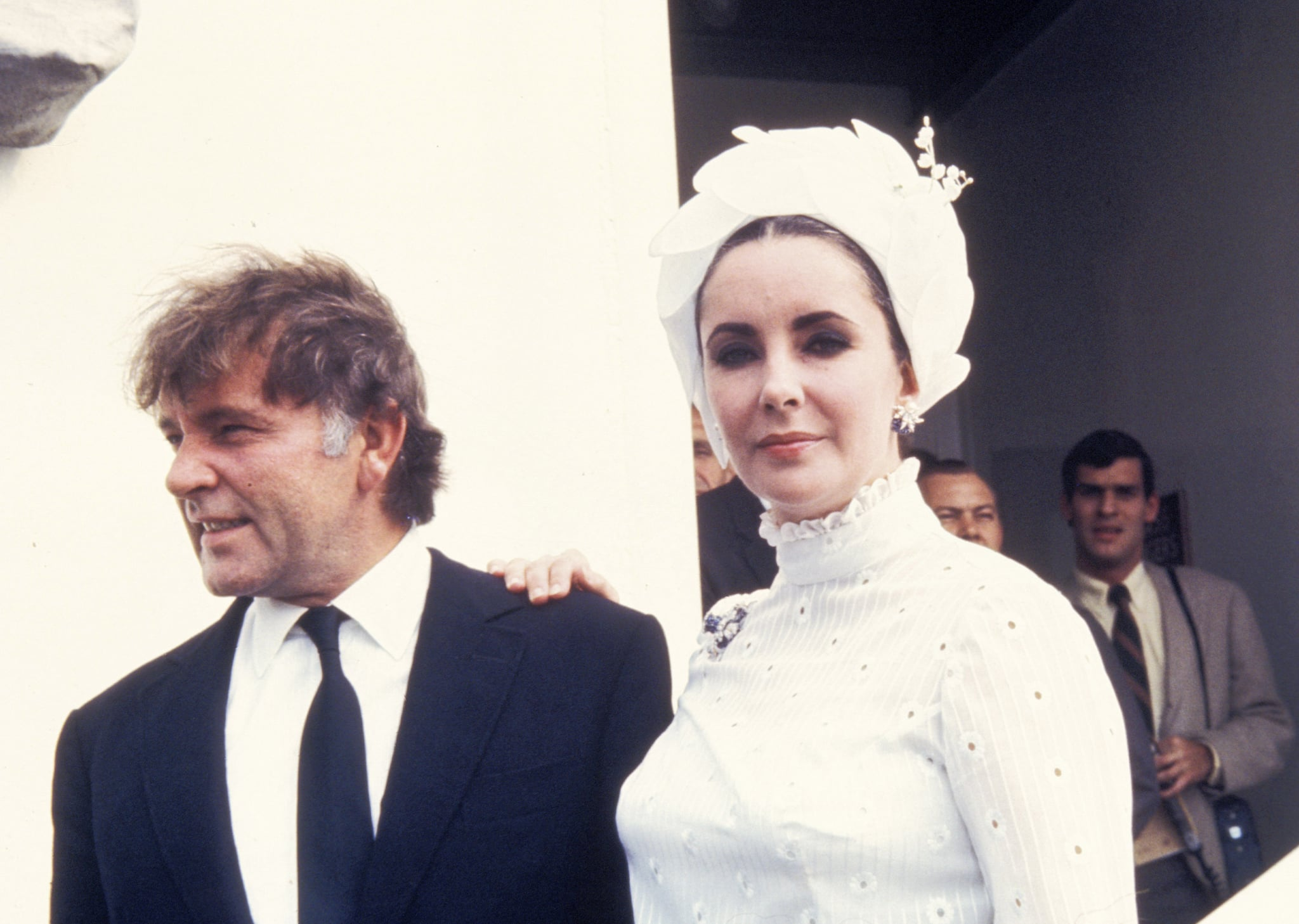 On the Queen  Elizabeth with Richard Burton, 1968.