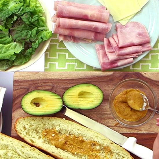 Ham, Cheese, and Avocado Sub