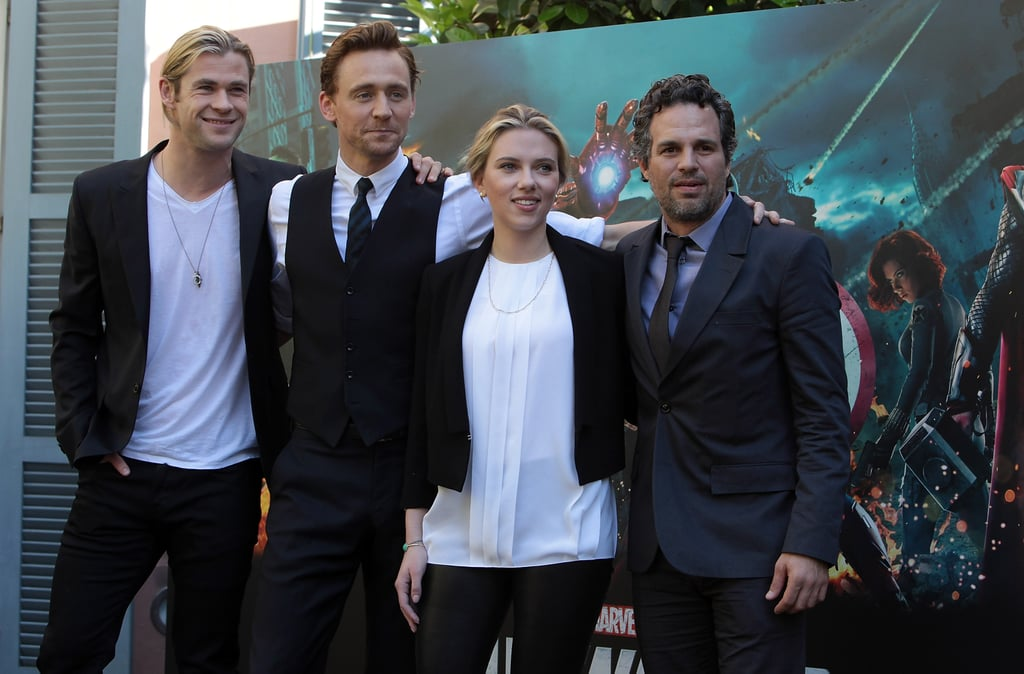 Scarlett Johansson had some of her costars from The Avengers by her side, including Mark Ruffalo, Chris Hemsworth, and Tom Hiddleston.