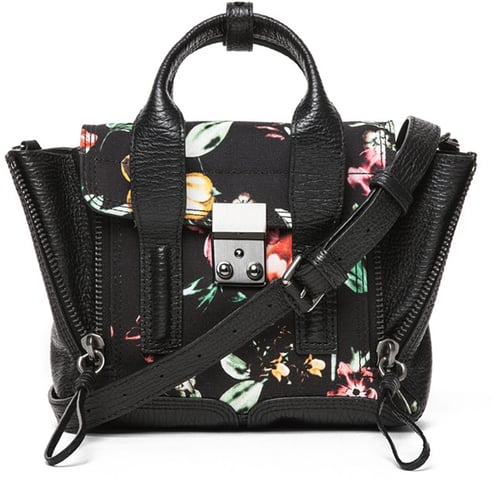 3.1 phillip lim Mini Pashli Satchel Printed Canvas in Faded Botanical