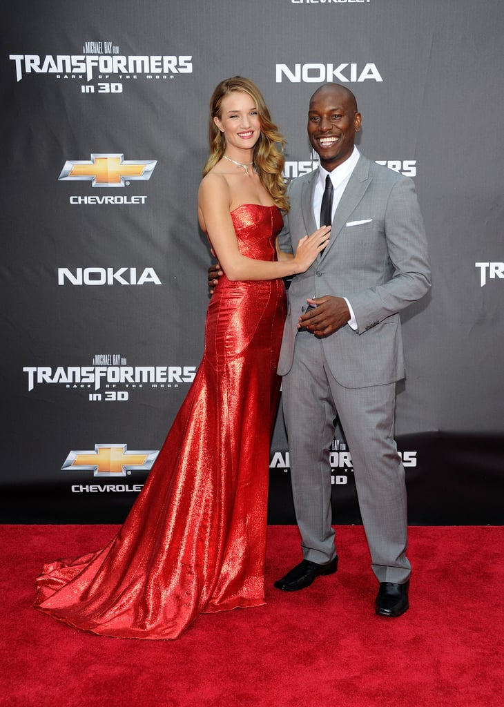 Rosie Huntington-Whiteley and Tyrese Gibson at the Transformers: Dark of the Moon NYC premiere.
