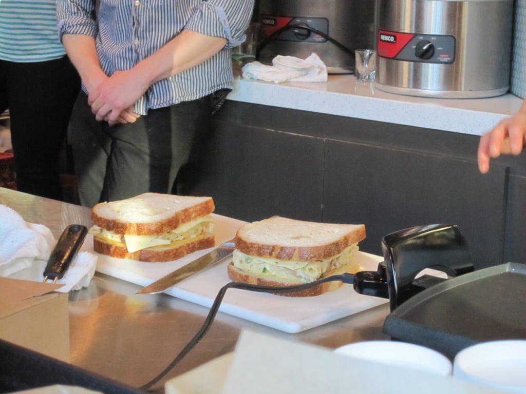 Two assembled sandwiches.