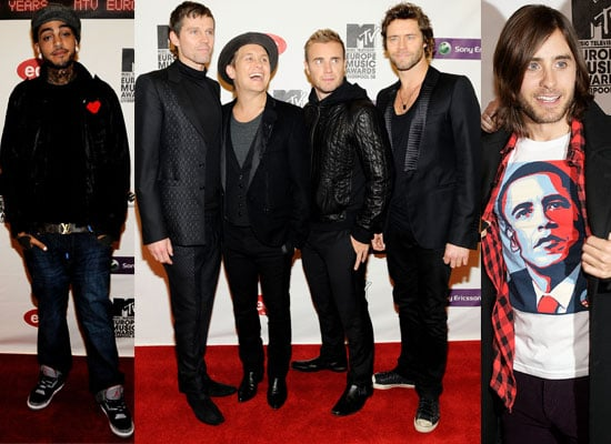 Photos Of The Men On The Red Carpet At The 2008 MTV Europe Music Awards, Take That, Jared Leto, Travis McCoy, Tokio Hotel etc