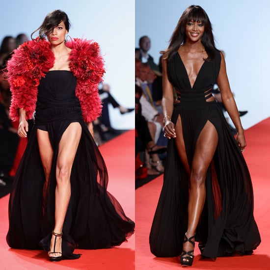Rosario Dawson and Naomi Campbell in Fashion For Relief Show
