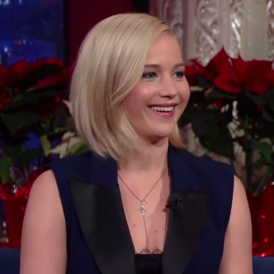 Jennifer Lawrence Talks Lindsay Lohan on Stephen Colbert
