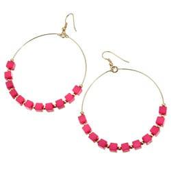 Glitterati: Beaded Hoop Earrings