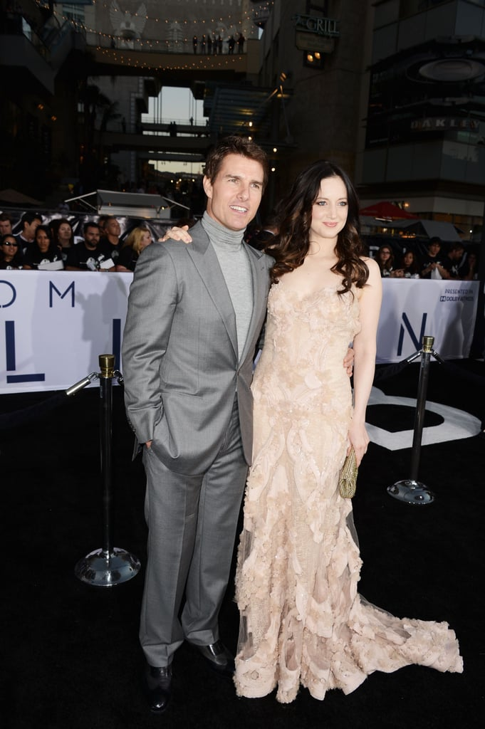 Tom Cruise and Andrea Riseborough linked up at the Oblivion premiere in Hollywood.