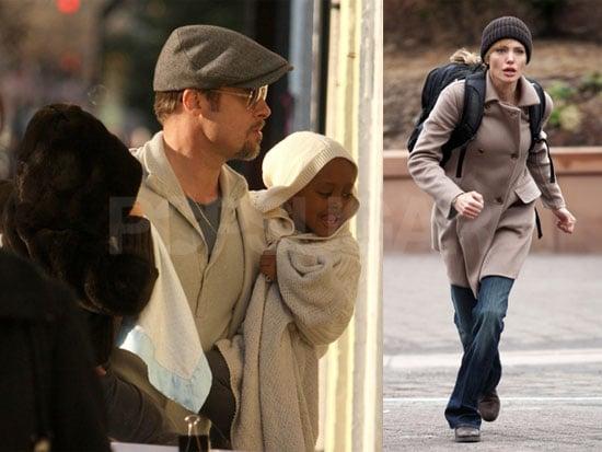 Photos of Angelina Jolie and Liev Schreiber Filming Salt in Washington DC