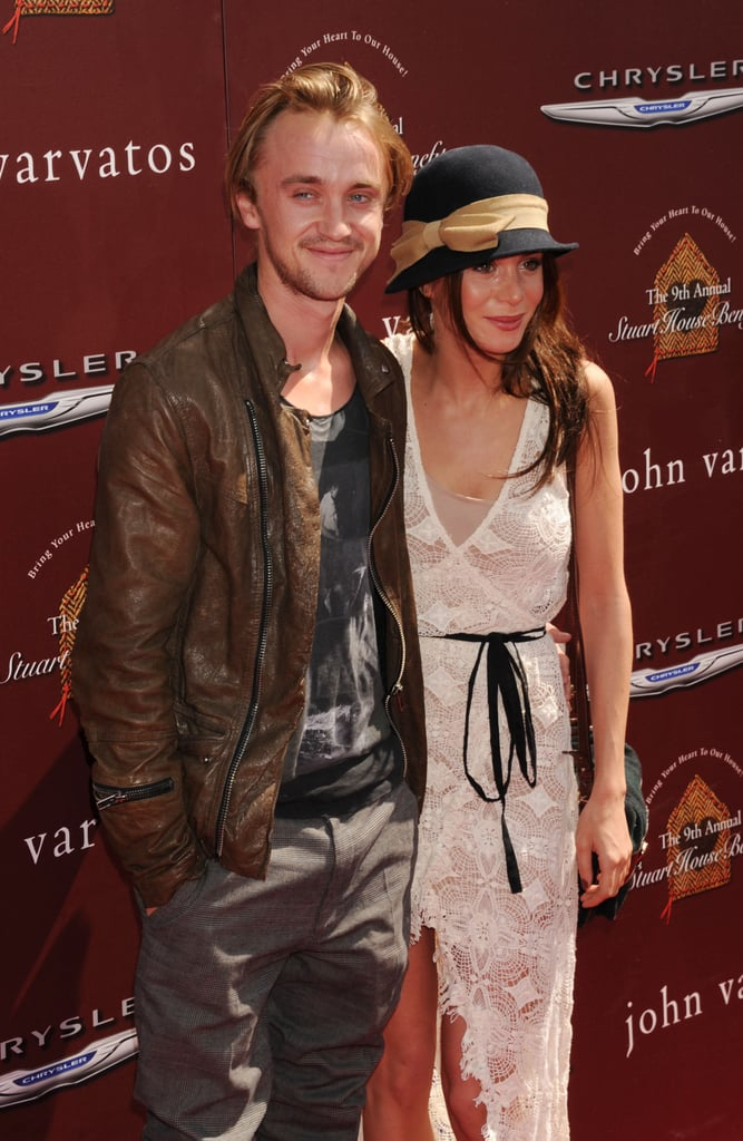 Tom Felton posed with girlfriend Jade Olivia.