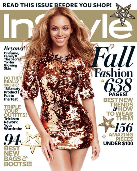 Beyoncé Knowles on the September 2011 cover of InStyle.