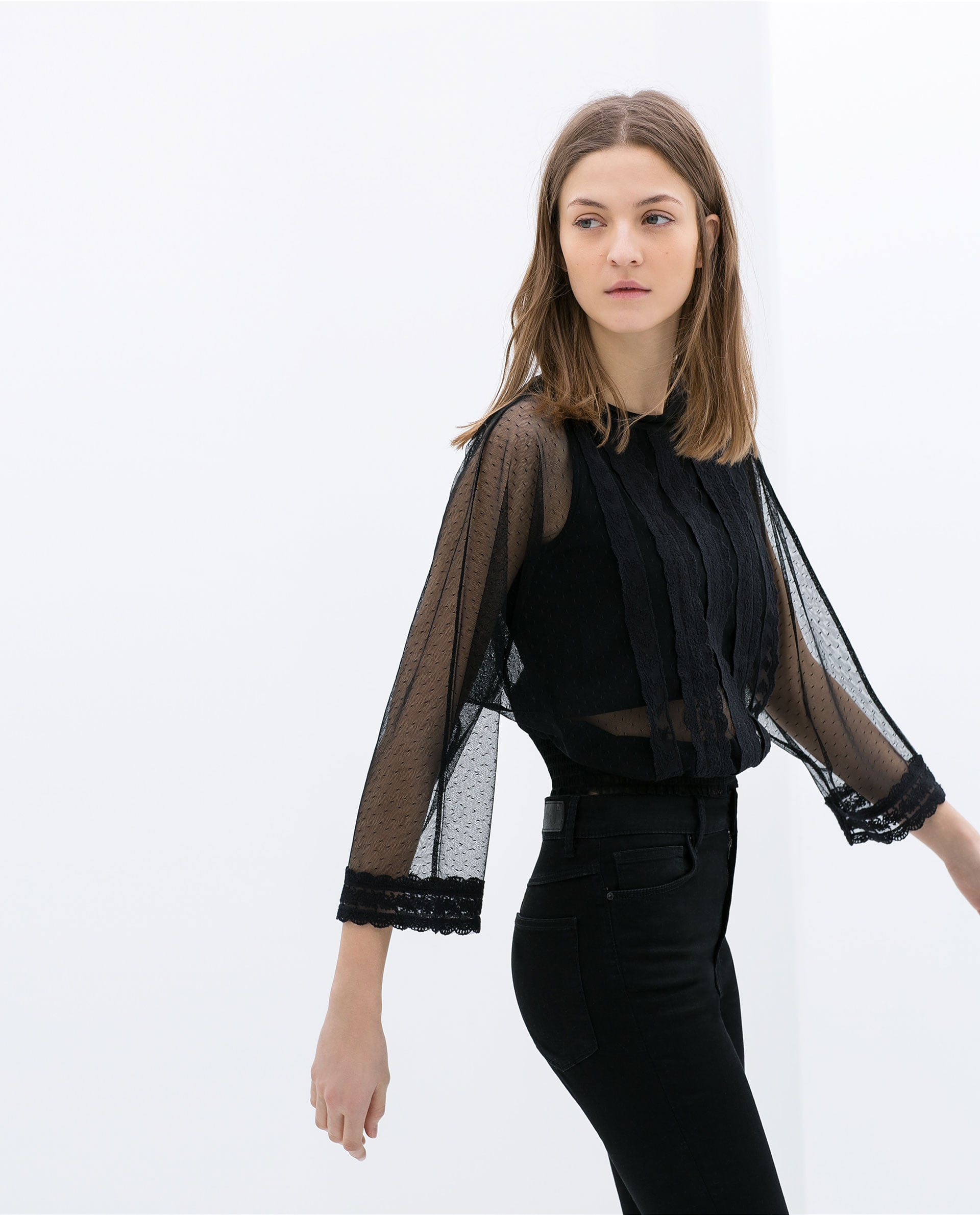 Zara Embroidered Lingerie Top ($70)