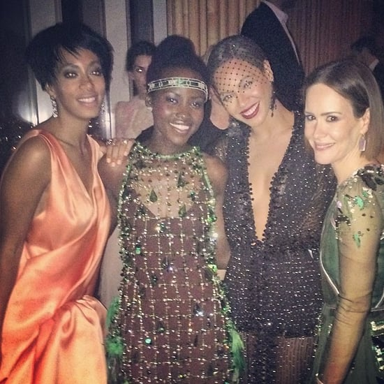 Beyoncé and Solange Knowles hung out with Lupita Nyong'o and Sarah Paulson. Source: Instagram user beyonce