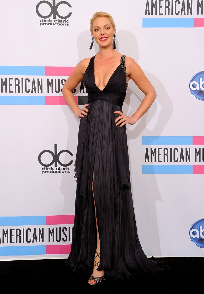 Katherine Heigl rocked a deep V at the American Music Awards.