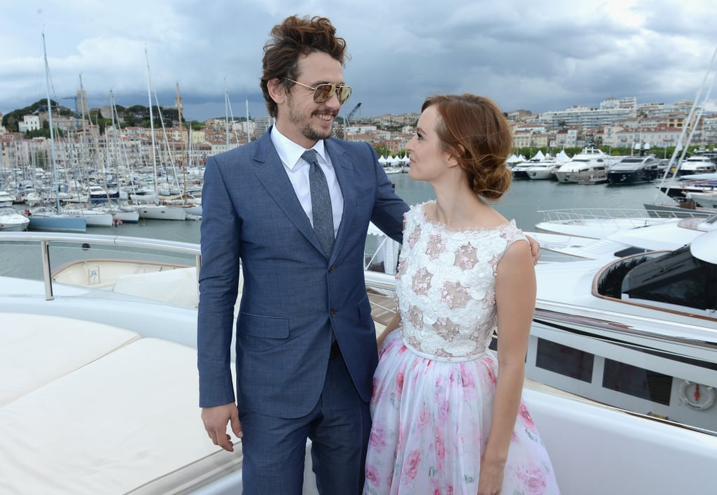 James Franco and Ahna O'Reilly reunited for a dinner party on Sunday in Cannes to honor the actress's impressive debut at the film festival.