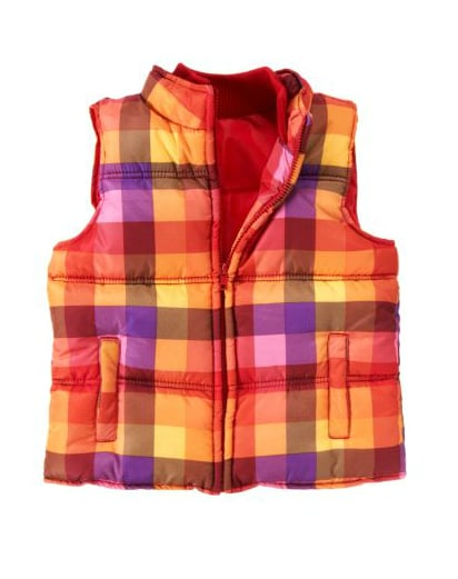 Crazy 8 Plaid Quilted Puffer Vest ($40)