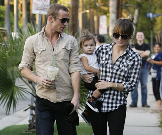 Slide Picture of Cam Gigandet and Family in LA