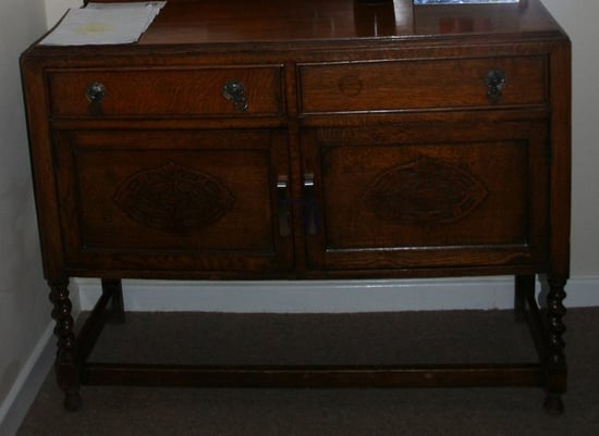 Before and After: An Old Sideboard Gets a Hip Makeover