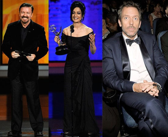 Pictures of Archie Panjabi, Tina Fey, Steve Carell, Lea Michele Hugh Laurie, George Clooney, Ricky Gervais at 2010 Emmy Show