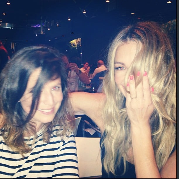 Jennifer Hawkins covered her face with her hair. Source: Instagram user jenhawkins_