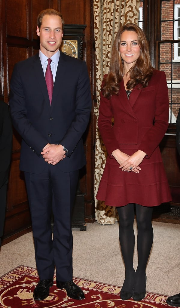 As she stood next to Prince William at Middle Temple, we couldn't help but think that her oxblood-hued Paule Ka skirtsuit hit all the right notes.