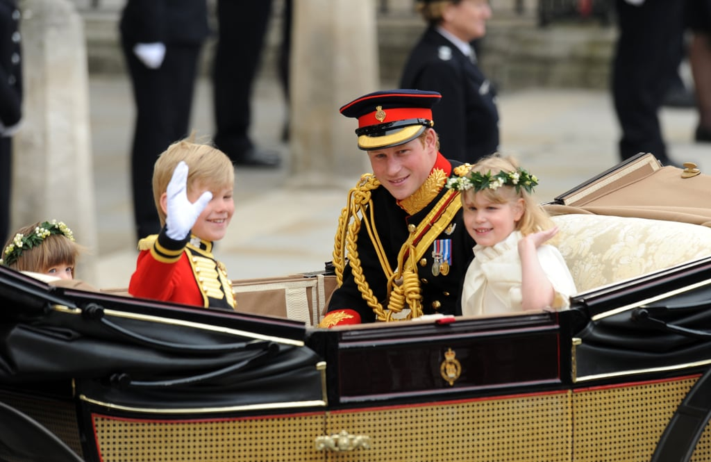Prince Harry Gets Playful During Royal Wedding Carriage Procession