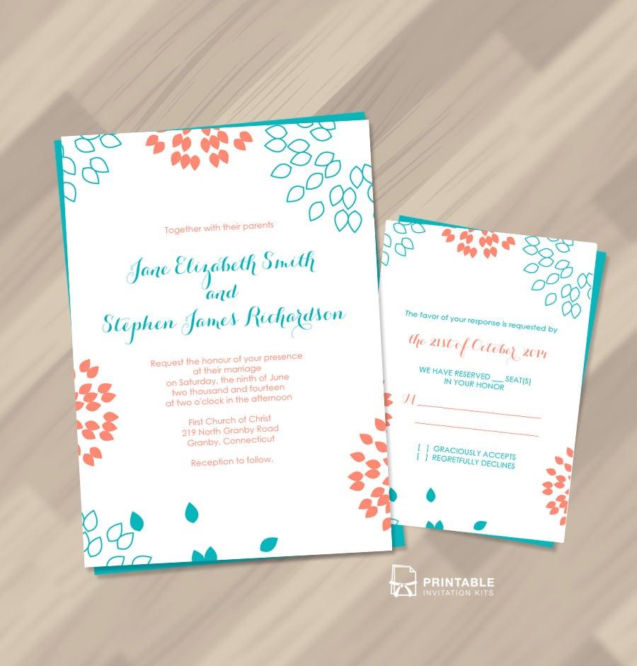 Summer Petals Wedding Invitation
