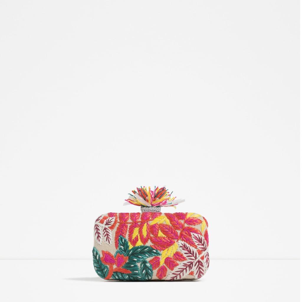 Zara Embroidered Miniaudiere ($50)