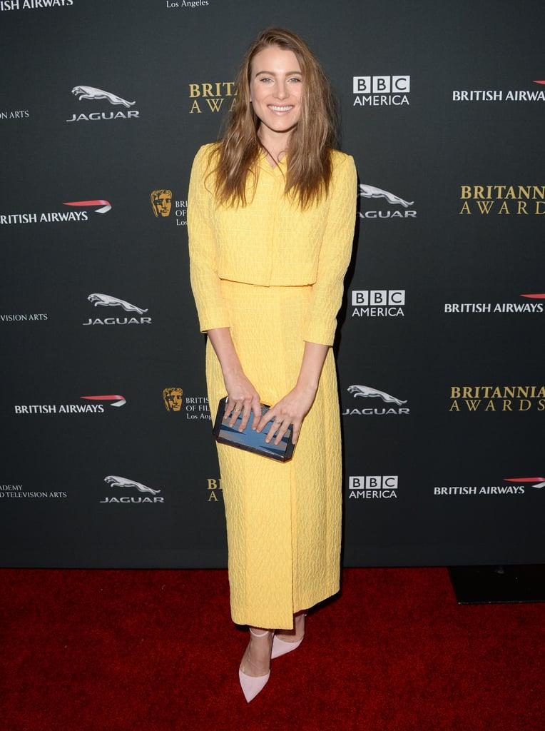 Dree Hemingway at the BAFTA Britannia Awards.