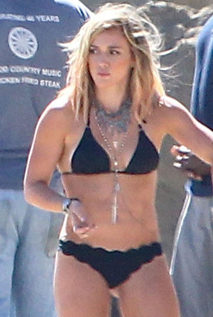 Hilary Duff Reveals Her Bikini Body at Her Music Video Shoot