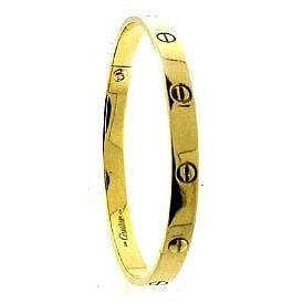 Amazon.com: Large Size Vintage Cartier 18k Gold Love bracelet: Jewelry