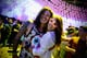 A couple glowed at the Coachella music festival in Indio, CA.