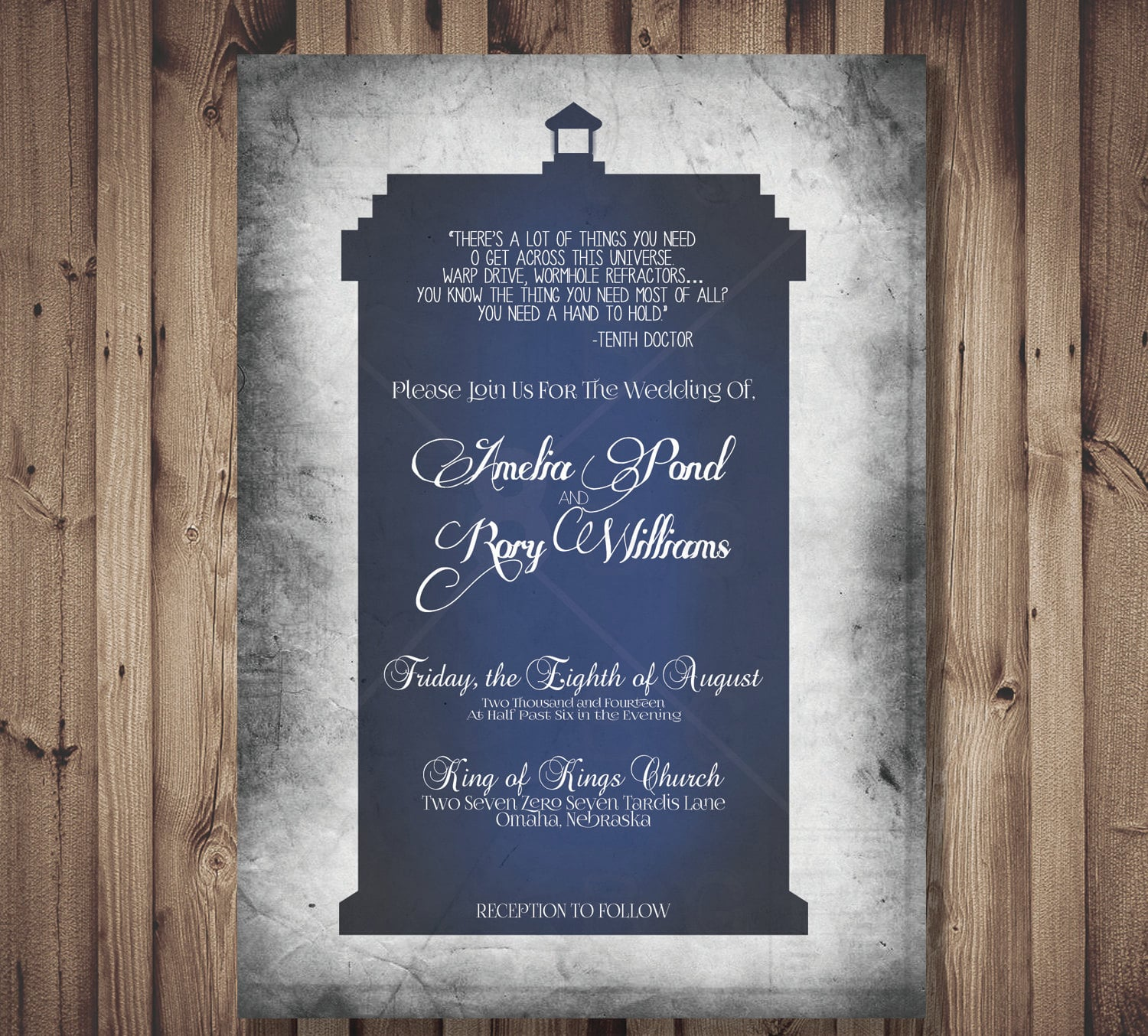 It's pretty much a guarantee that Doctor Who fans will fawn over these printable TARDIS invites ($13 for digital file).
