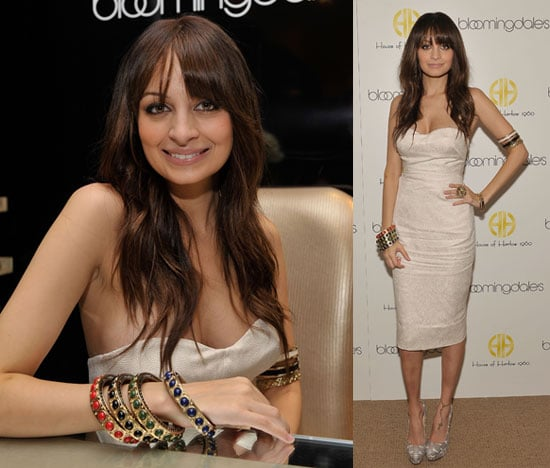 Photos of Nicole Richie With Brown Hair Launching House of Harlow Holiday Collection at Bloomingdales