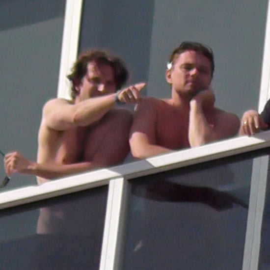 Bradley Cooper Shirtless With Leonardo DiCaprio