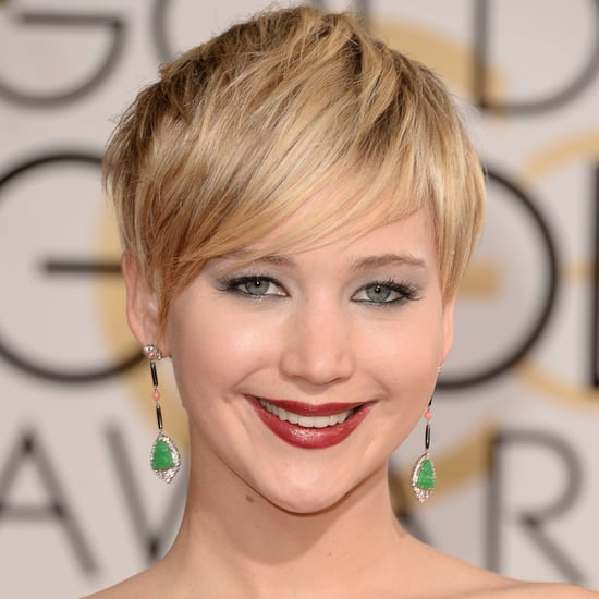 Jennifer Lawrence Hair and Makeup at Golden Globes 2014