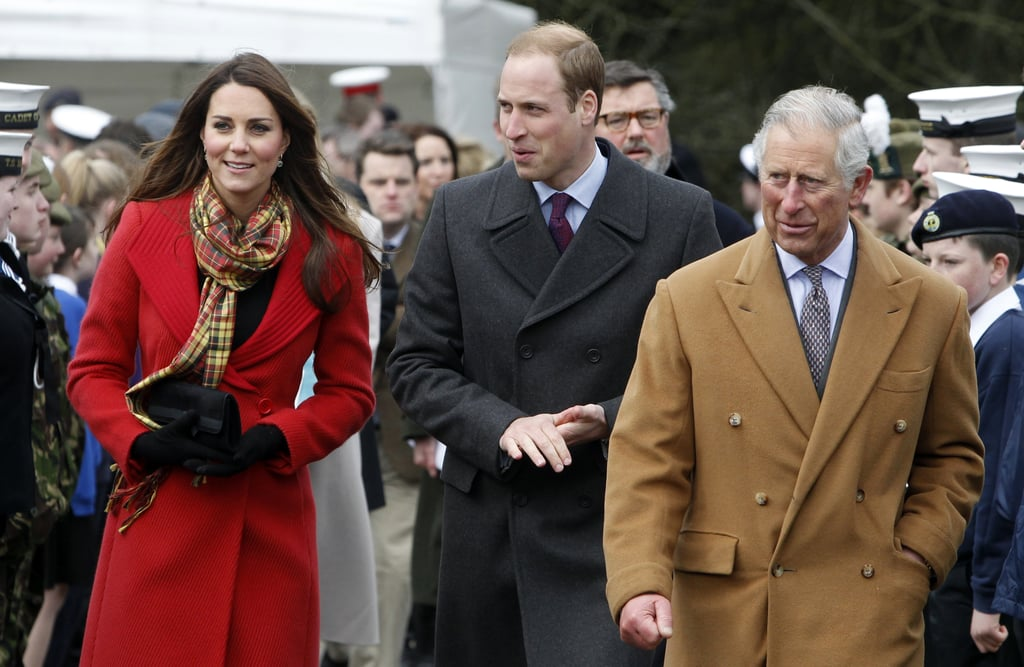 On April 5, 2013, Kate joined William and Prince Charles for an official tour of Scotland.